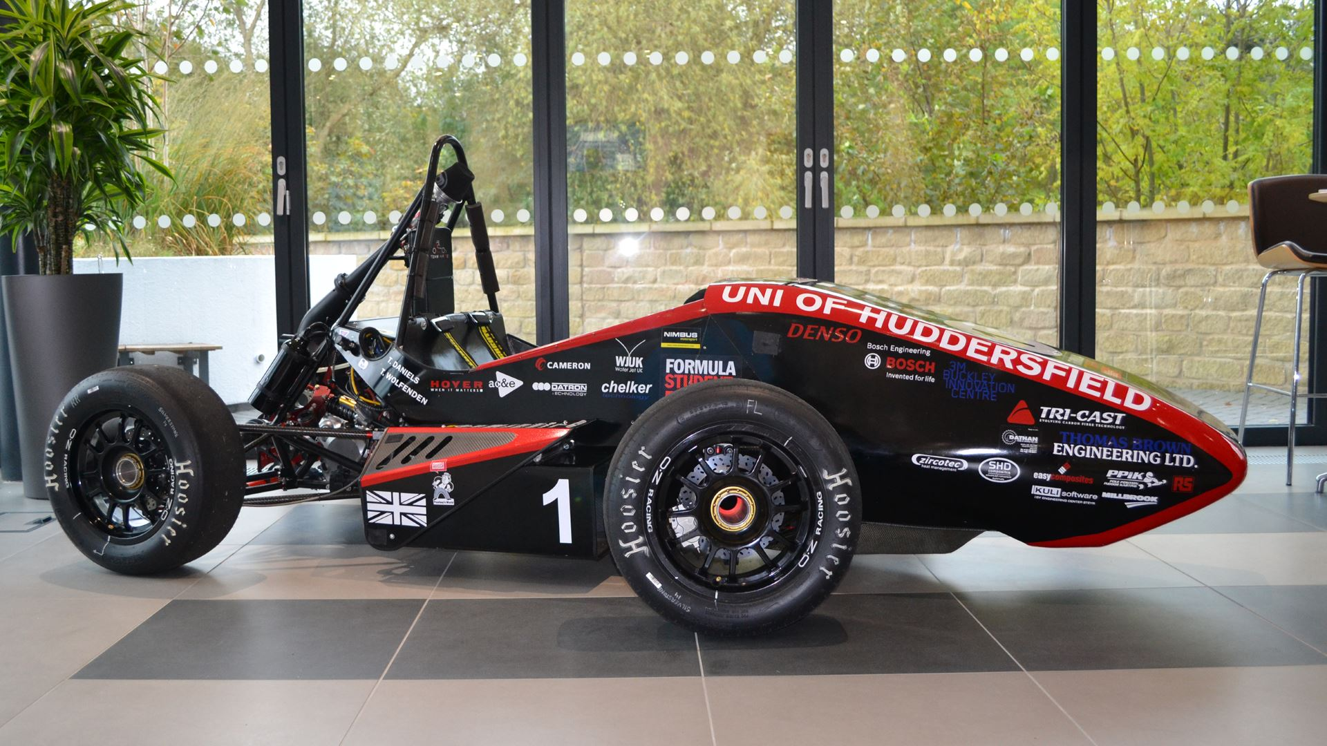 University of Huddersfield's Team Hare Formula Student Racing Team vehicle