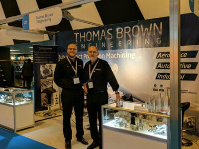Thomas and Lee at the Southern Manufacturing 2020 at Farnborough